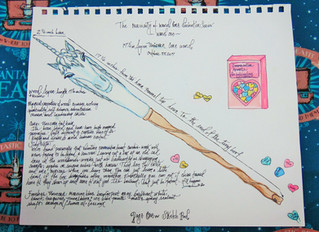The Curiosity of Wand Core Divination Series-- Sketch and Wand -- Wand One -- Unicorn Core Wand