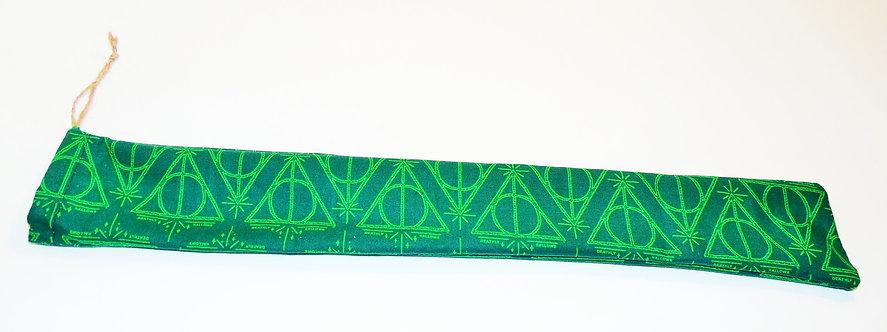 Green Deathly Hallows Wand Satchel