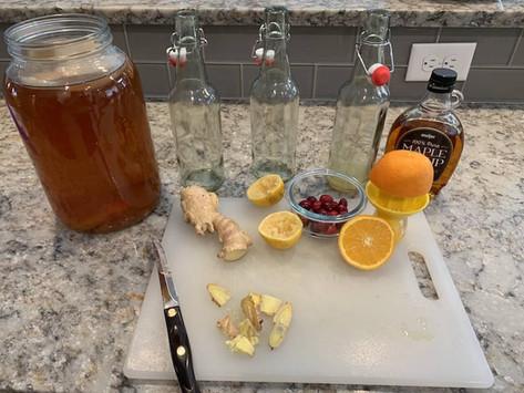 How to Make Ginger Kombucha at Home