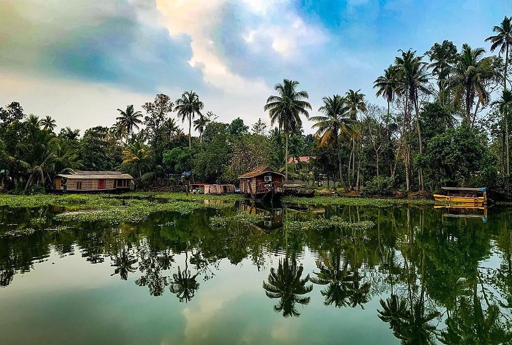 Backwaters at Kerala.