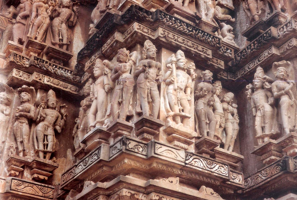 Khajuraho sculptures.