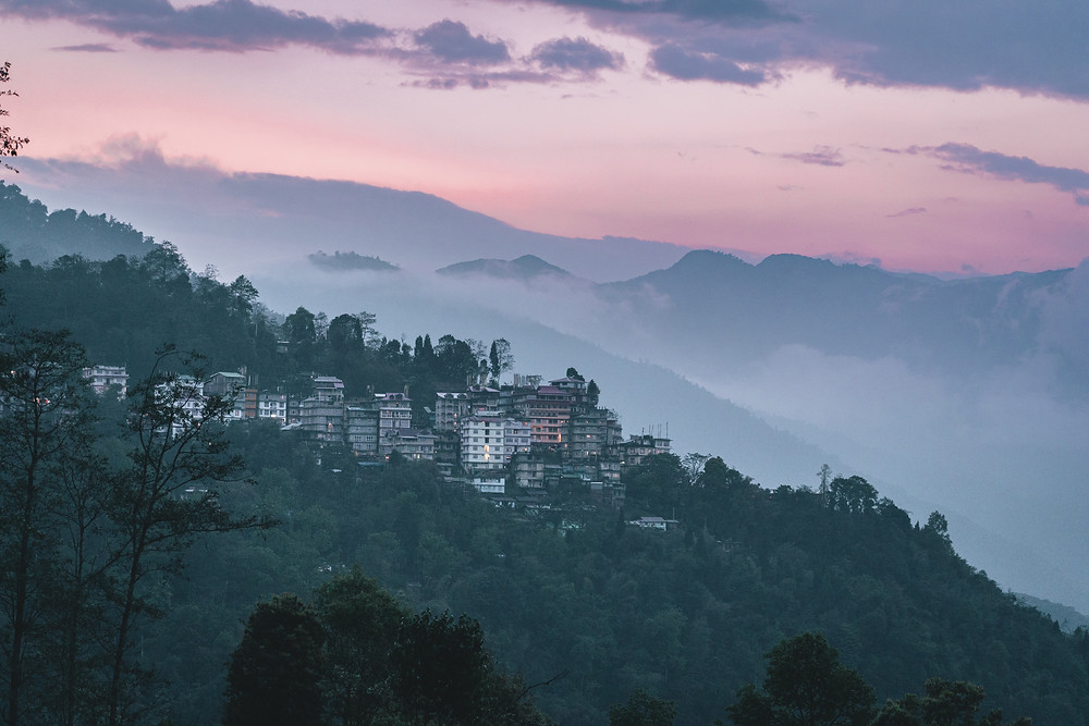 The marvelous view of Pelling.