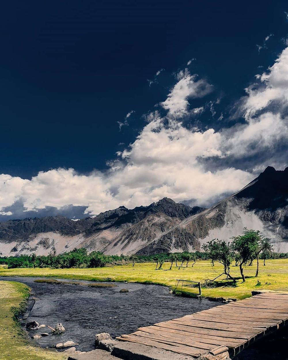 Magical view of Leh.