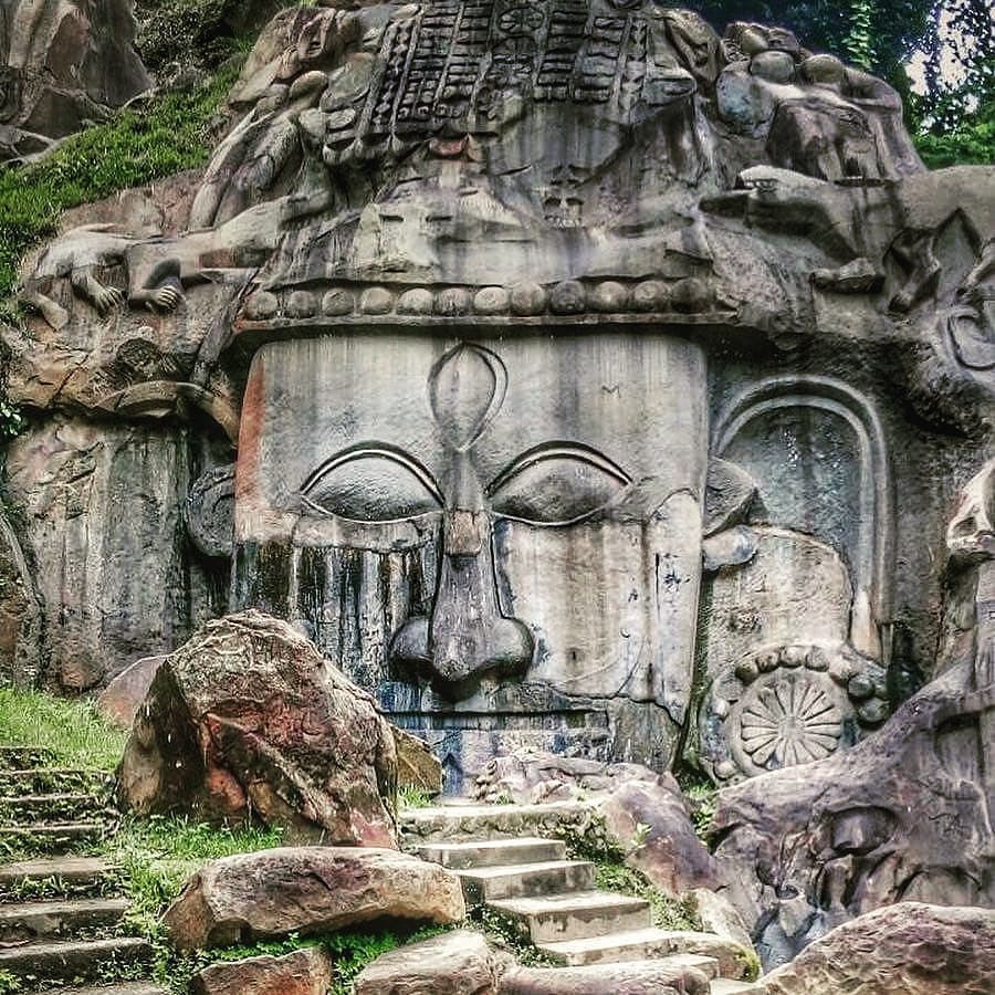 Ancient rock at Tripura.