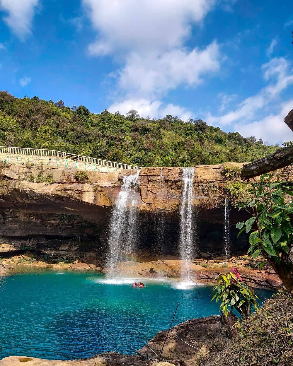 Waterfall at Cherrapunji.