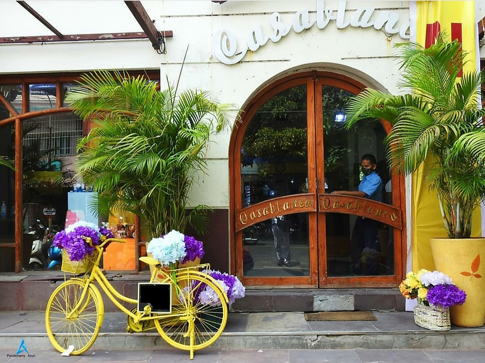 A quirky cafe in Puducherry