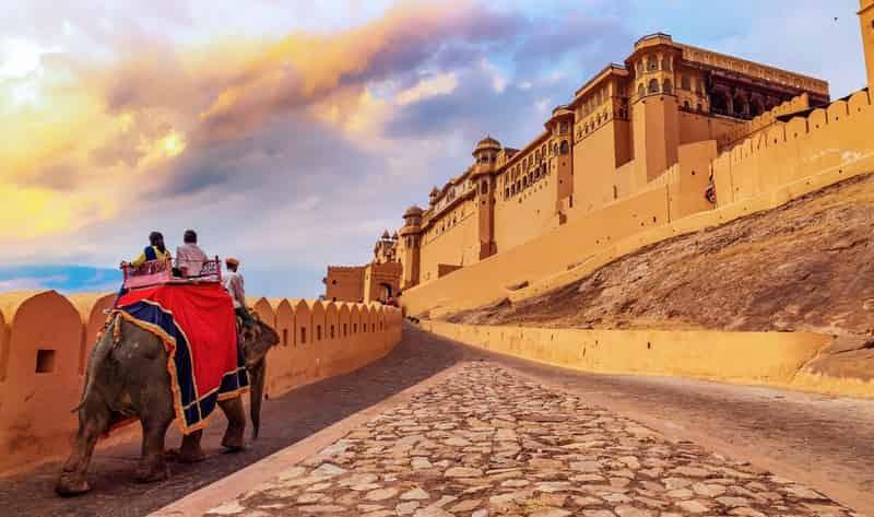 The royal Jaisalmer fort.