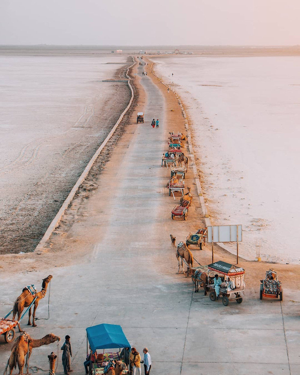 The incredible view of Rann of Kutch.
