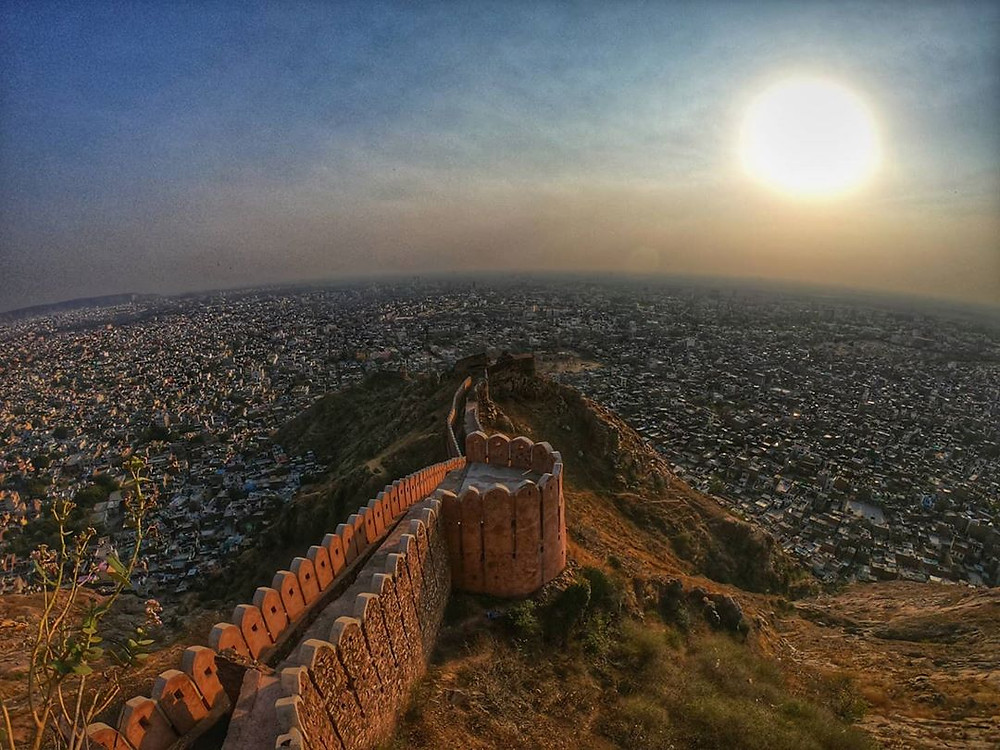 The magnificient view from Nahagarh Fort.