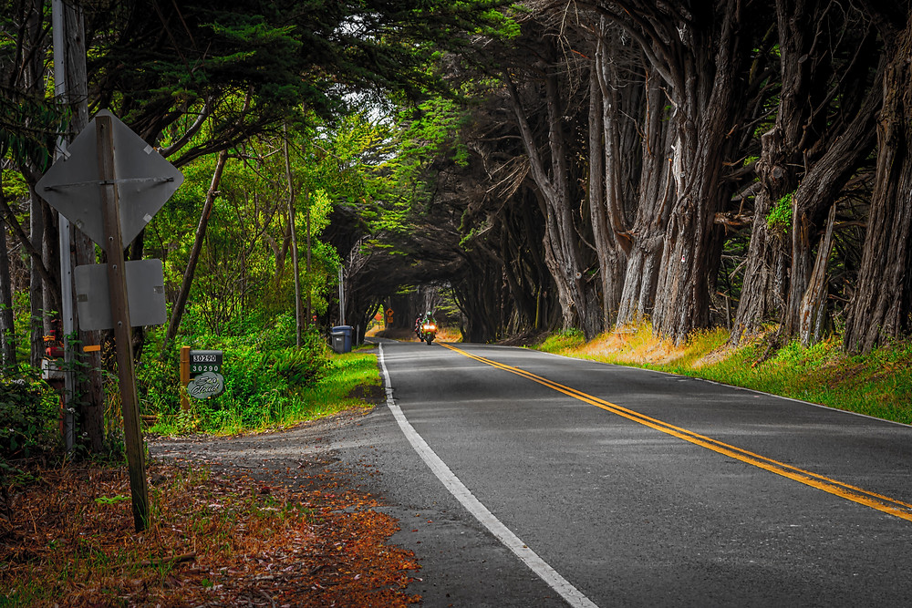 A road leading to a destination.
