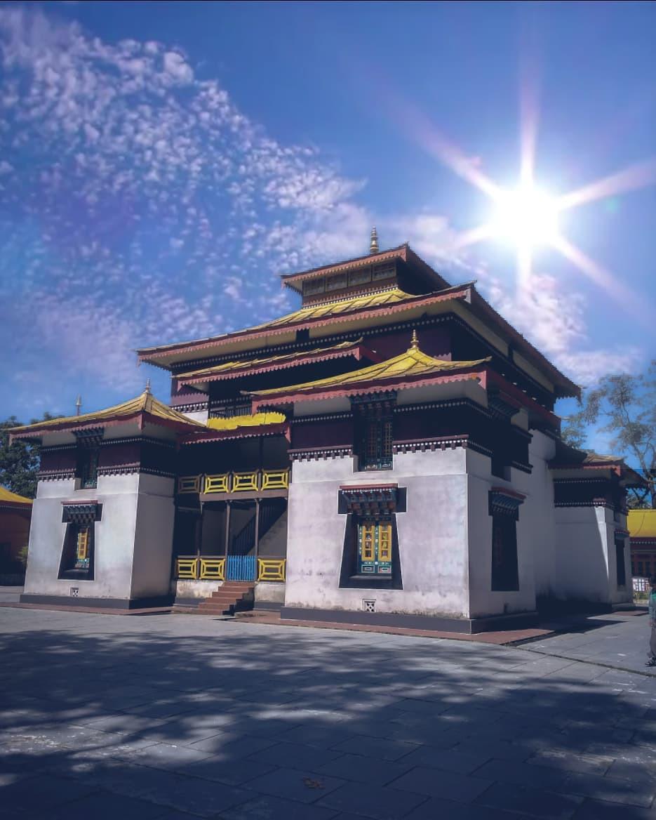 Tranquil monastery at Gangtok.