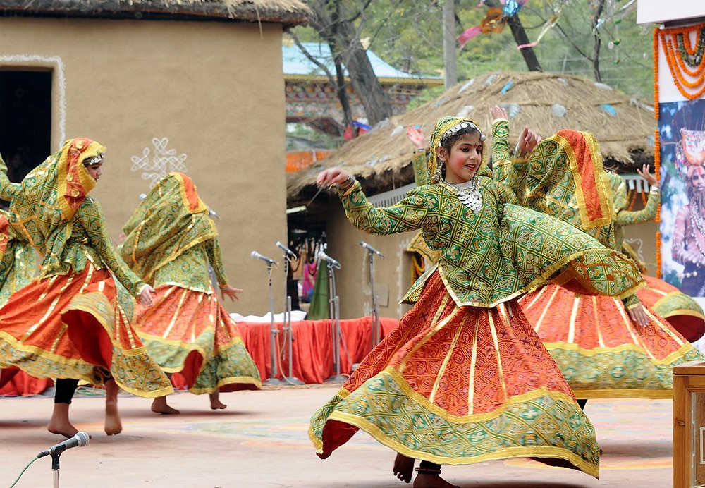 Celebration at Surajkund Mela.