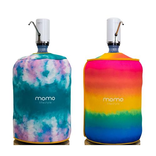 Combo Momo Rainbow - Bomba e capa dupla face para galao Rainbow Momo Lifestyle