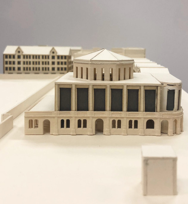 1:100 Model / Synagogue Front Facade, West