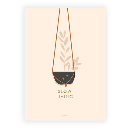 Slow living poster
