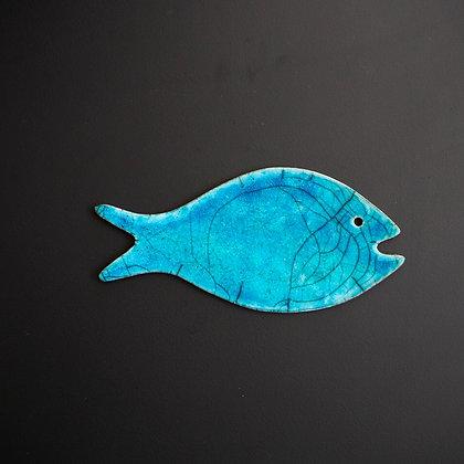 """Magnetic fish """"Raku"""" turquoise"""