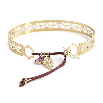Bracelet Jonc dentelle Doré ou Argenté