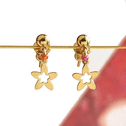 Bo puces étoile Doré ou Argenté