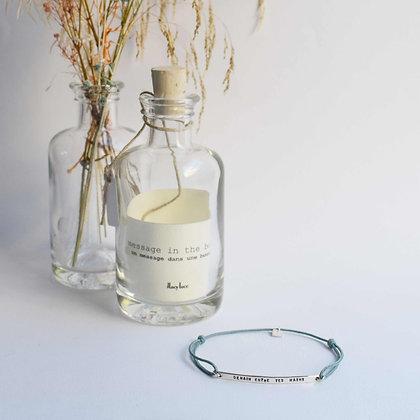 """Bracelet """"message dans une bouteille"""""""