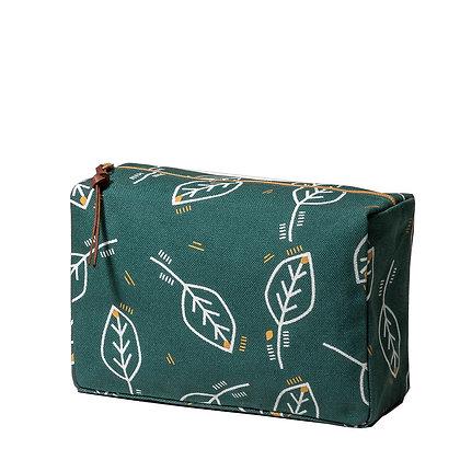Green toiletry bag