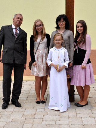 Magdaléna s rodinou