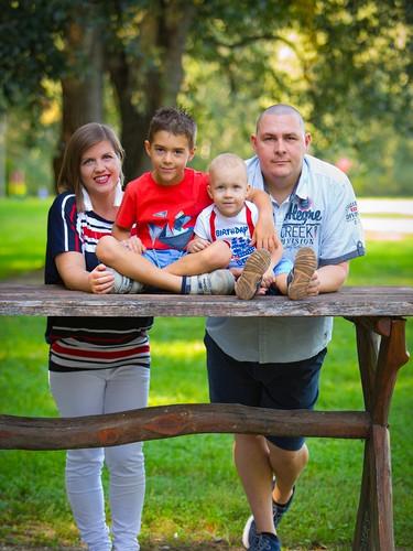 Theo Benjamín s rodinou