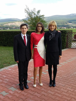Mária s rodinou
