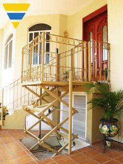 Plataforma de tijera residencial