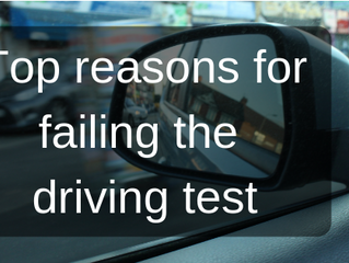 Biggest reasons for failing the driving test