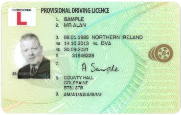 provisional driving licence