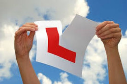 L plate ripped
