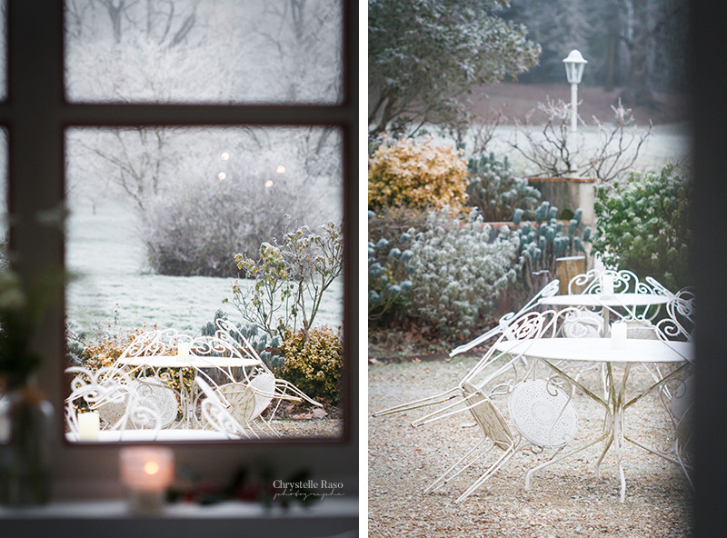table jardin hiver