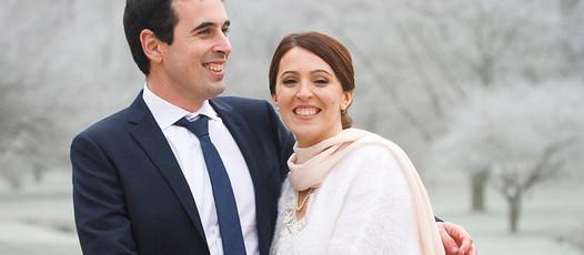 Mariage hivernal en région Parisienne