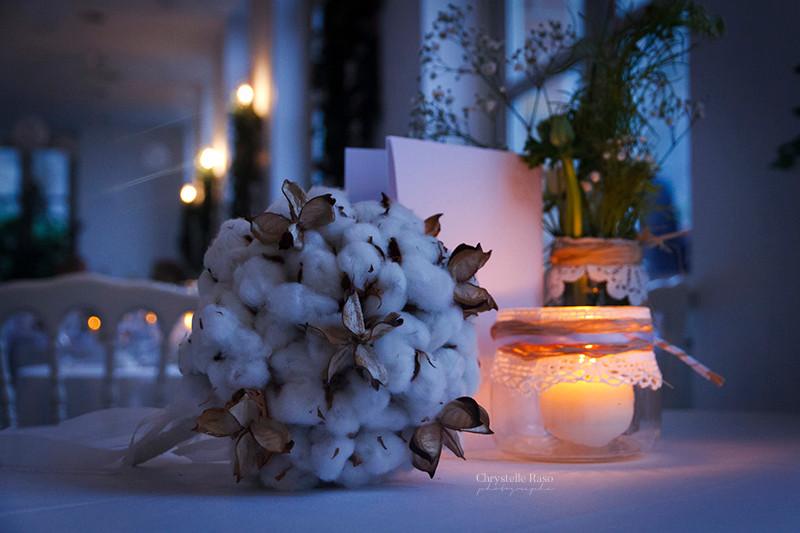 bouquet de mariée hivernal