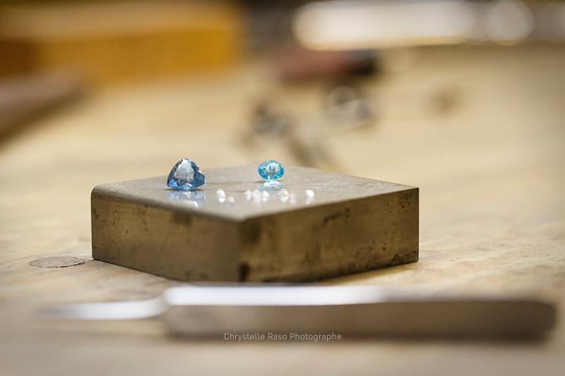 Diamant dans un atelier de bijouterie