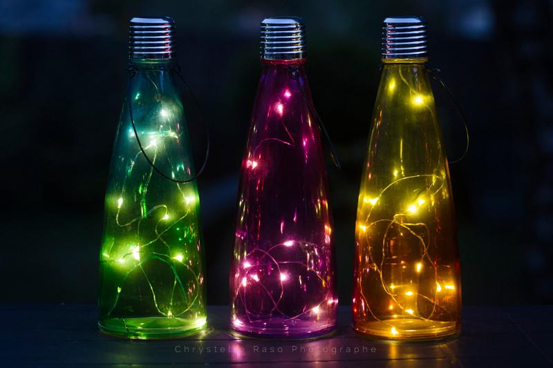 chrystelle raso photographe bouteille de jardin solaire de nuit
