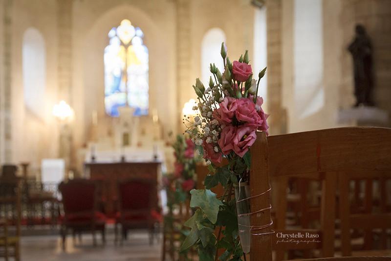 bouquet dans l'église