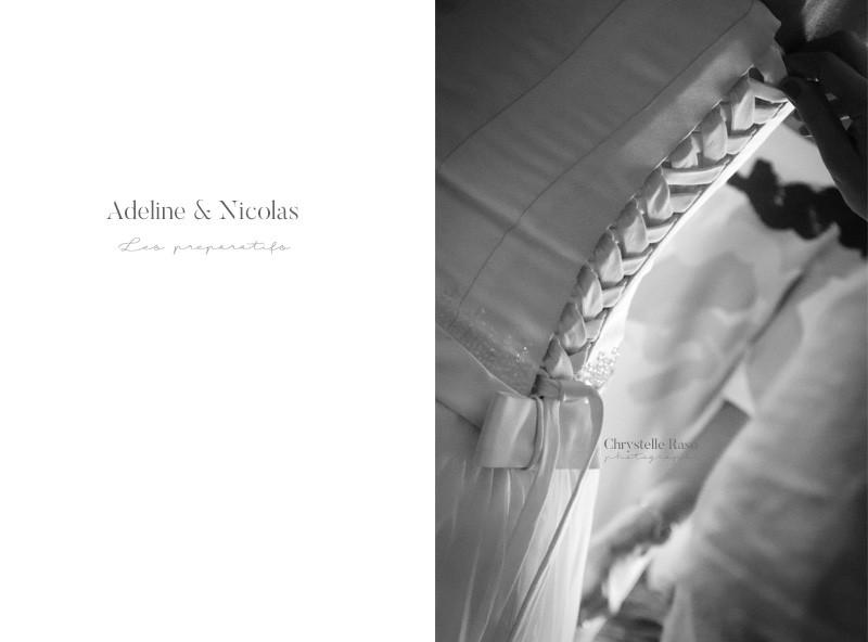 ruban de la robe de mariée