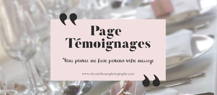 Page Témoignages