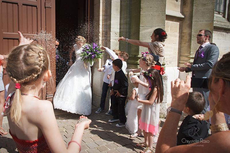 mariage  la sortie de l'église