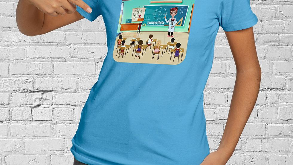 Damen Baumwoll T-Shirt - Professor Plastic School