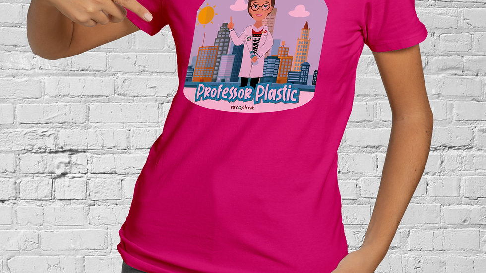 Damen Baumwoll T-Shirt - Professor Plastic Urban