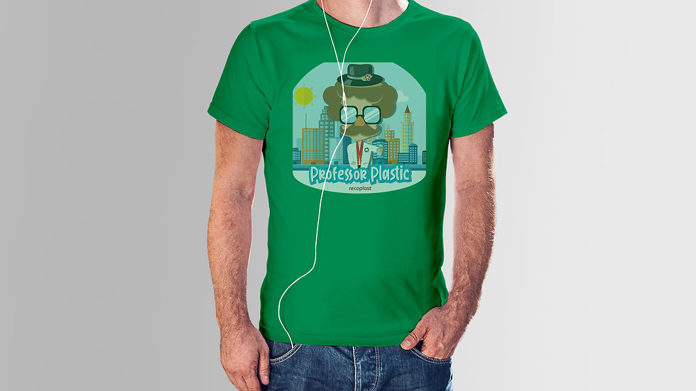 Herren Baumwoll T-Shirt - Professor Plastic Urban