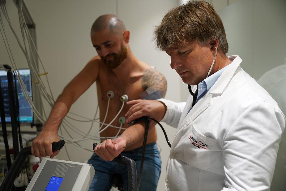 Patient stress test diagnostic