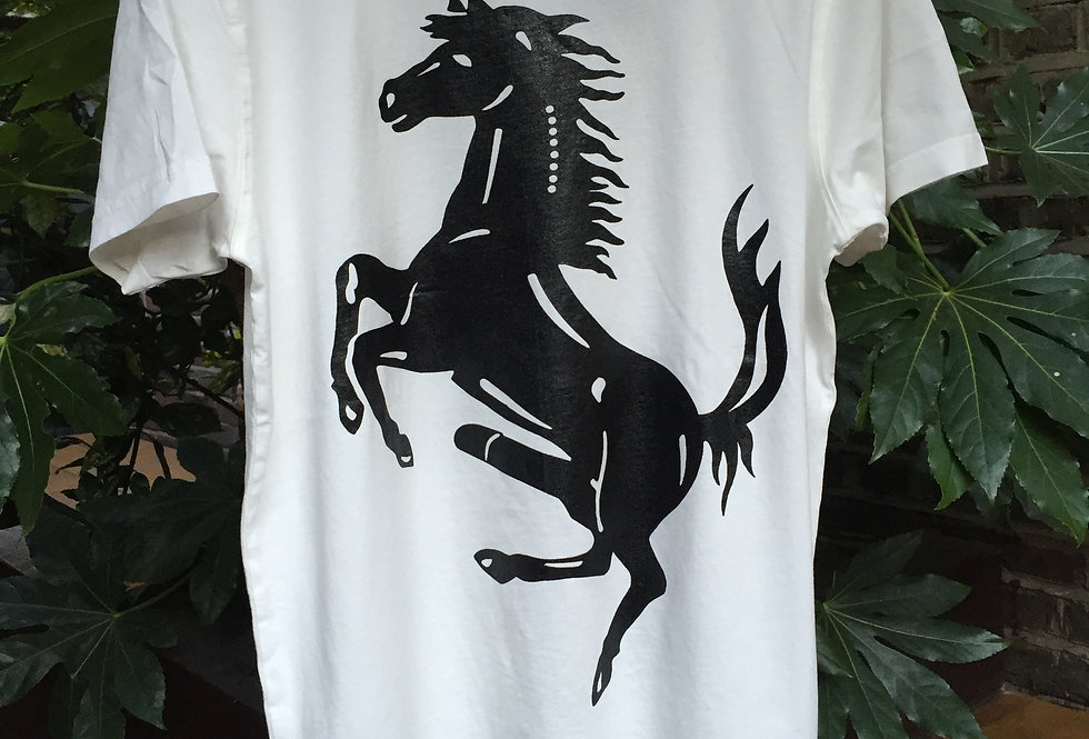 HMD Classic Horse White t-shirt with black print
