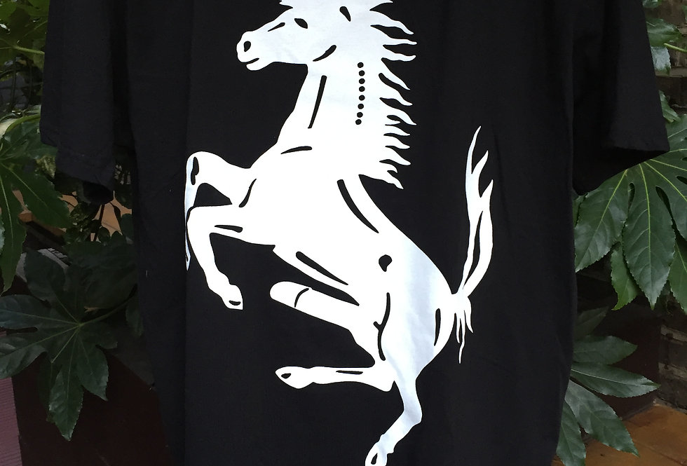 HMD Classic Horse Black t-shirt with white print