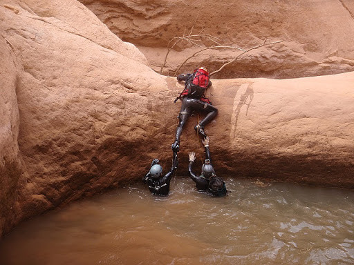 pothole keeper hole canyoning