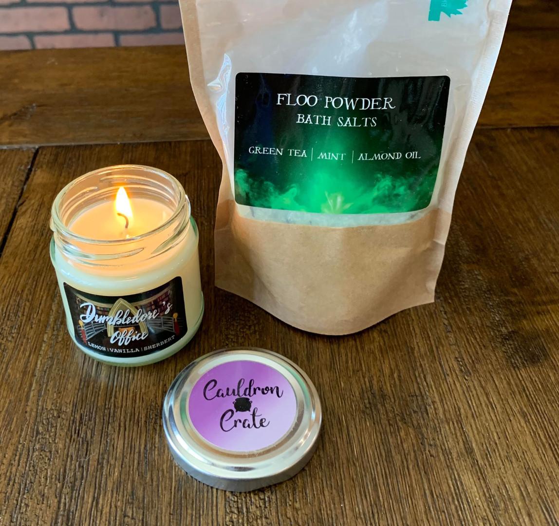 Headmasters Office Candle and Floo Powder Bath Salts