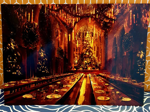 Christmas in the castle print