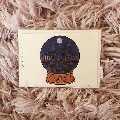 Christmas Snow Globe Card